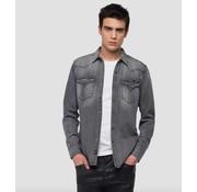 Replay jeans overhemd grijs (M4860Z 154 317 - 010)