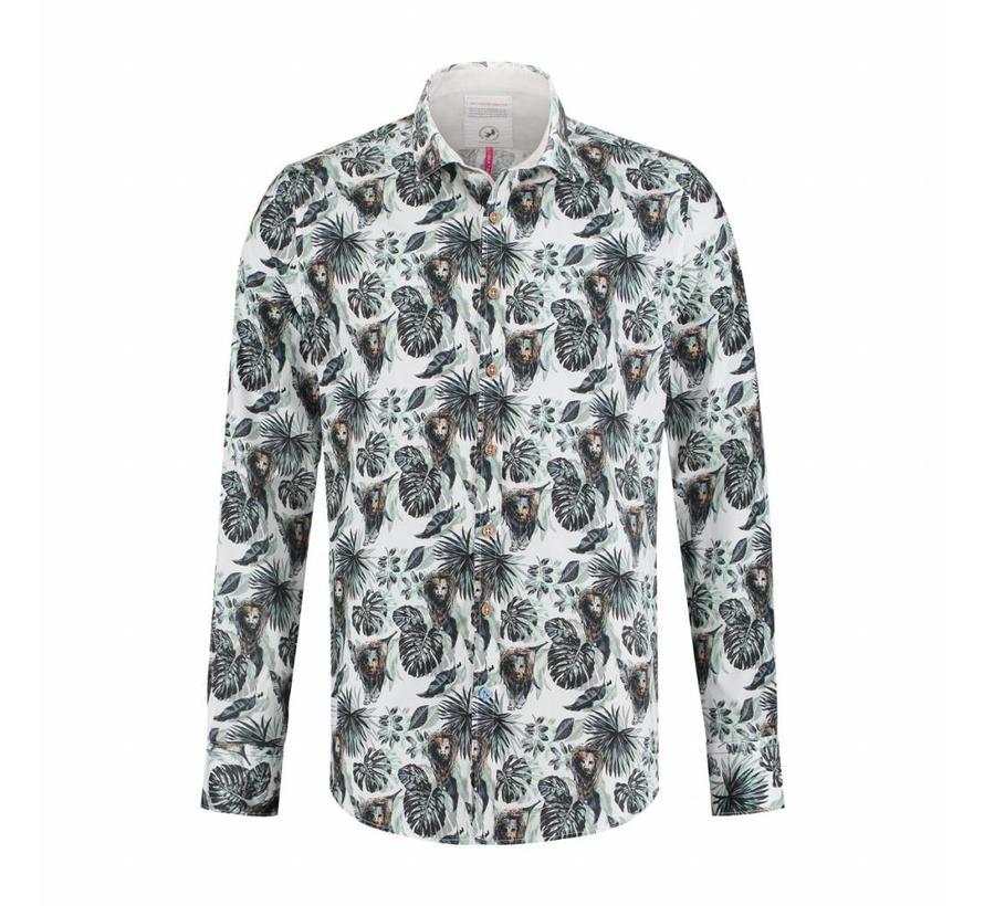 Overhemd Lion jungle groen (91.01.030)