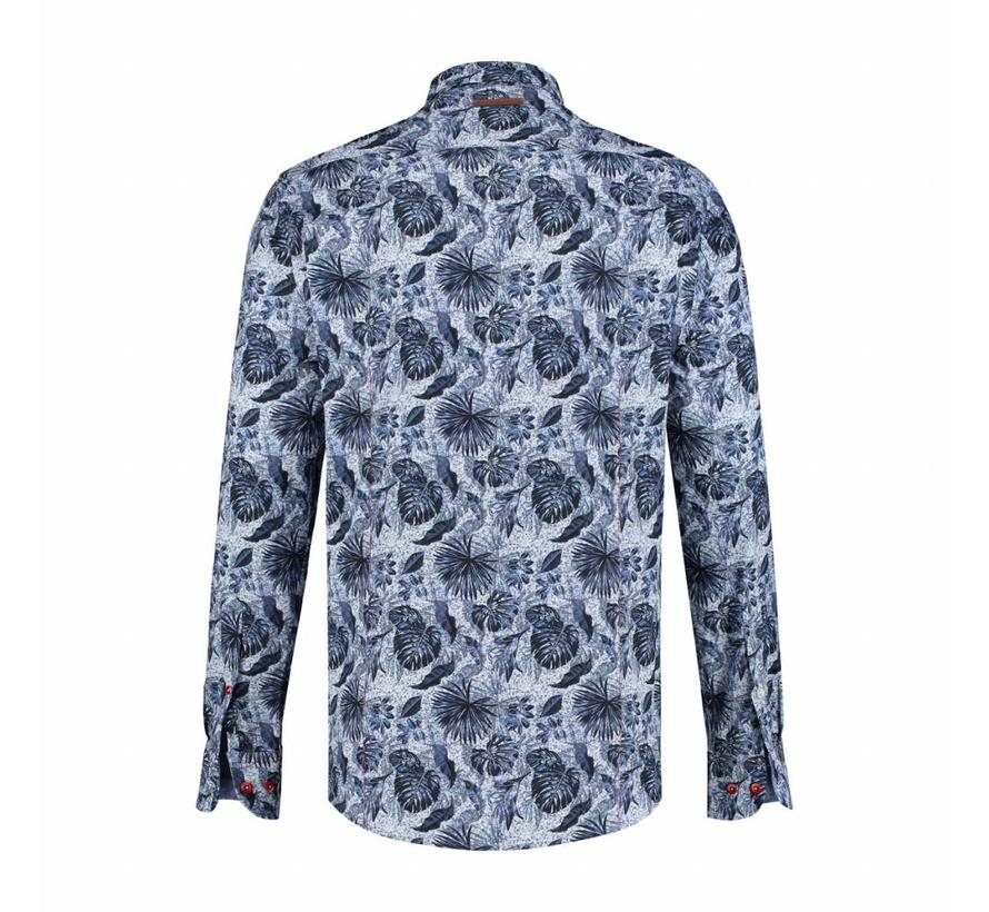 Overhemd elephant jungle blauw (91.01.040)