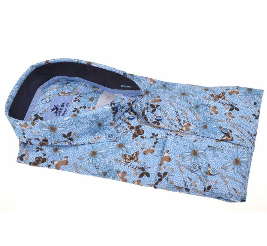 Overhemd Modern Fit Vlinder Blauw (214916 - 32)
