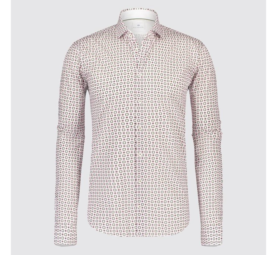 overhemd print roze (1234 - 91)