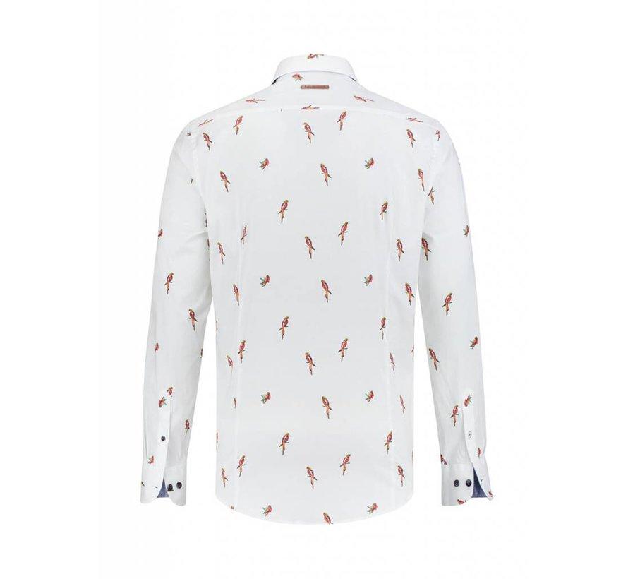 overhemd Parrots wit (91.01.047)