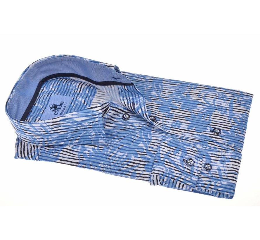 overhemd Modern Fit streep Blauw (214897 - 34)