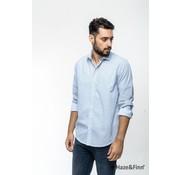 Haze & Finn Overhemd print Blauw (MC11-0100-02)