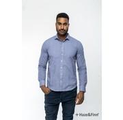 Haze & Finn Overhemd print Ster Blauw (MC11-0100-05)