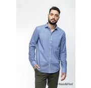 Haze & Finn Overhemd print Blauw (MC11-0100-13)