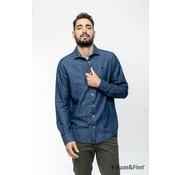 Haze & Finn Overhemd Denim Blauw (MC11-0107)