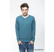 Haze & Finn Pullover V-Hals Blauw (MC11-0200 - blauw)