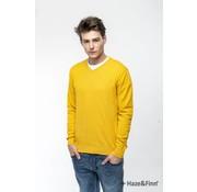 Haze & Finn Pullover V-Hals Geel (MC11-0200 - Yellow)