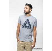 Haze & Finn T-shirt Cubes grijs (MU11-0009)