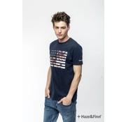 Haze & Finn T-shirt Flag Print Navy (MU11-0012 - navy)