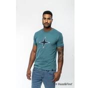 Haze & Finn T-shirt Logo print Blauw (MU11-0014 - blauw/navy)