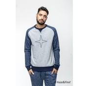 Haze & Finn Sweater Navy/Grijs (MU11-0401)
