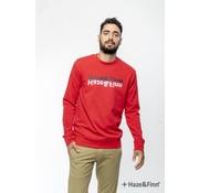Haze & Finn Sweater Logo Red (MU11-0402 - rood)