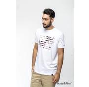 Haze & Finn T-shirt Flag Print Wit (MU11-0012 - white)
