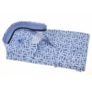 Culture Overhemd Modern Fit print Blauw (214920 - 32)