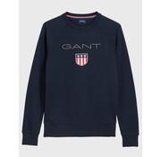 Gant Sweater Logo donker Blauw (2046004 - 433)