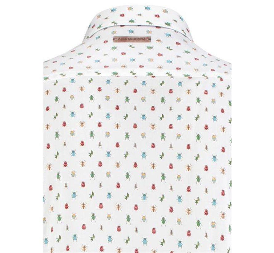overhemd Insecten print Wit (91.02.014)