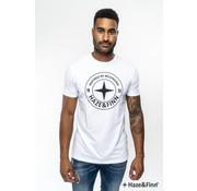 Haze & Finn T-shirt Logo Wit (ME-0018 - white)