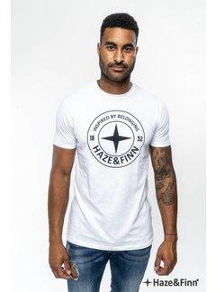 Haze&Finn T-shirt Logo Wit (ME-0018 - white)