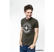 Haze & Finn T-shirt Logo Khaki Groen (ME-0018 - khaki)