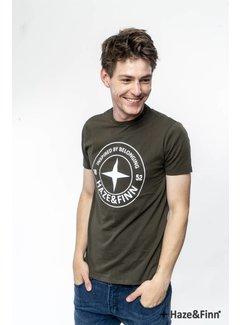 Haze&Finn T-shirt Logo Khaki Groen (ME-0018 - khaki)