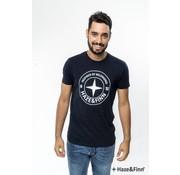 Haze & Finn T-shirt Logo Navy (ME-0018 - navy)