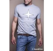 Haze & Finn T-shirt logo Grijs (ME-0011)