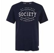 HV Society T-shirt korte mouw Navy (0403103127 - 5001)