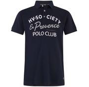HV Society Polo korte mouw logo Navy (0403103136 - 5001)