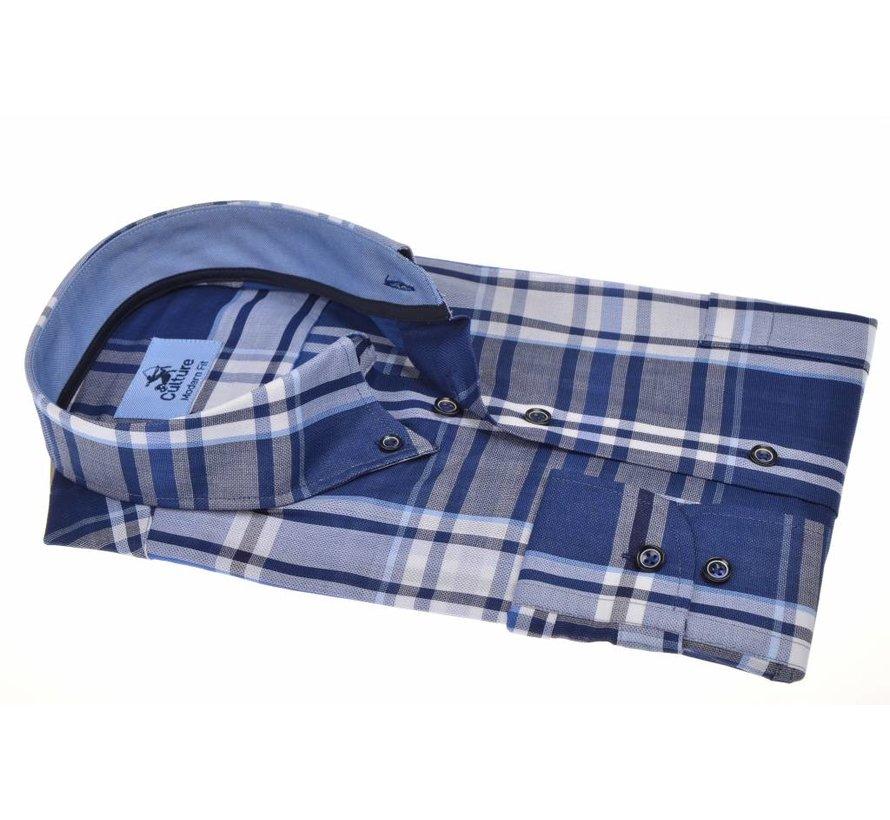 overhemd modern fit ruit Blauw (214815 - 38)