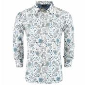 New Zealand Auckland Overhemd Manutahi Off White Print (19AN548 - 40)