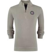 New Zealand Auckland Half Zip Sweater Taipoiti Khaki (19AN313 - 1800)