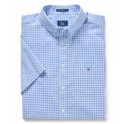 Gant Korte Mouw Overhemd Regular Fit Ruit Lichtblauw (3046701-468)