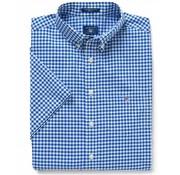 Gant Korte Mouw Overhemd Regular Fit Ruit Blauw (3046701 - 436)