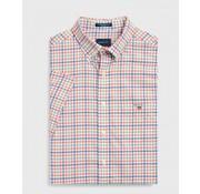 Gant Korte Mouw Overhemd Regular Fit Ruit Oranje (3046851 - 859)
