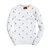 Superdry Sweater Toekan print Wit ( M20101ET - ZXU)