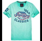 Superdry T-shirt Logo print Groen (M10106YT - A7L)