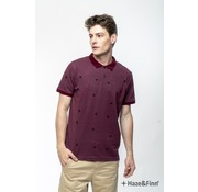 Haze & Finn Polo Dry Red Melange (MC11-0302)