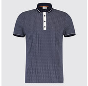 Blue Industry Polo print Cirkels Navy (KBIS19 - M23 - Navy)