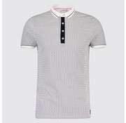 Blue Industry Polo print Cirkels Wit (KBIS19 - M23 - Off White)