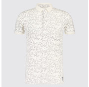 Blue Industry Polo print Bloemen Wit (KBIS19 - M24 - Off White)