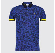 Blue Industry Polo print Camouflage Blauw (KBIS19 - M25 - Marine)