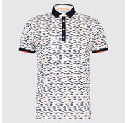 Blue Industry Polo print Vissen Wit (KBIS19 - M26 - Off White)