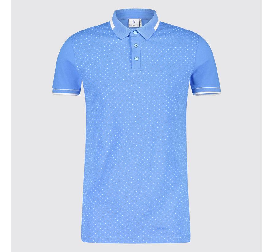 758b35977f1 Blue Industry Polo kruisjes Blauw (KBIS19 - M31 - Blue)