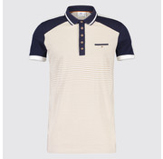 Blue Industry Polo streep Beige/Navy (KBIS19 - M32 - Navy)