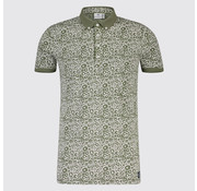 Blue Industry Polo print Rondjes Army (KBIS19 - M34 - Army)