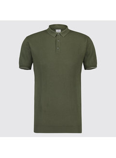Blue Industry Polo structuur Army (KBIS19 - M39 - Army)