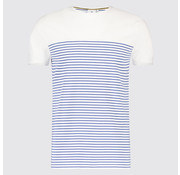 Blue Industry T-shirt streep Blauw/Wit (KBIS19 - M43 - Off White)