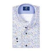 R2 Amsterdam Overhemd Extra Mouwlengte print Blauw (104.WSP.XLS.052 - 014)